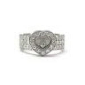 Chopard Happy NATURAL Diamond 18Kt Diamond White Gold Heart Ring 0.74CT