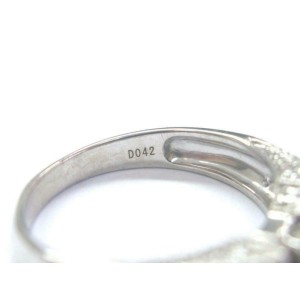 Fine Round & Baguette Diamond Engagement White Gold Ring 14Kt EGL USA 1.03Ct