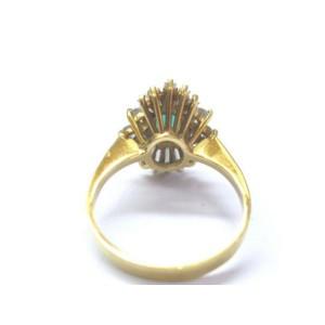 18Kt Gem Colombian Green Emerald & Multi Shape Diamond Yellow Gold Ring 1.45Ct