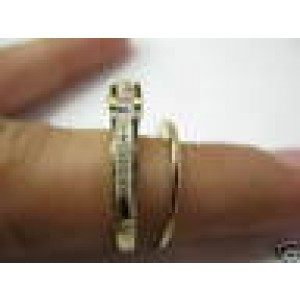 Natural Round Diamond Yellow Gold Crown Design Wedding Set 14KT .70Ct