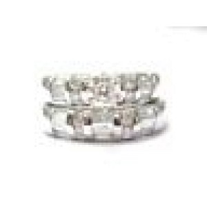 Fine Round & Baguette Cut Diamond Engagement White Gold Wedding Set 1.44CT