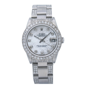 ROLEX DATEJUST WATCH 68240 31MM MOP DIAMOND DIAL WITH 4.75 CT OYSTER BRACELET
