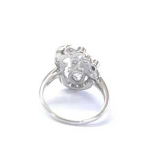 Fine Vintage Old European Cut Diamond White Gold Jewelry Ring .69Ct