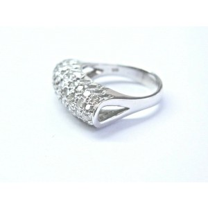 18Kt Round Cut Diamond Dome Shape White Gold Jewelry Ring 1.50Ct