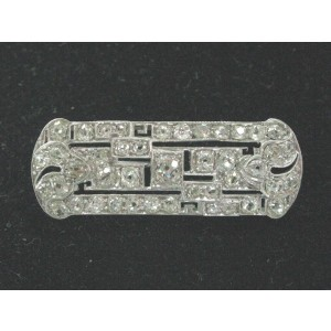 Platinum Vintage Old Mine Cut Diamond Pin/ Brooch 2.25Ct