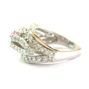Natural Morganite & Diamond White Gold Split Shank Ring 18Kt 3.80Ct SIZEABLE