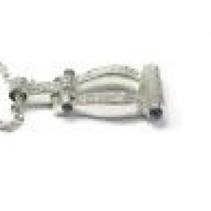 Philippe Charriol Diamond Sapphire Pendant Necklace White Gold 1.00CT