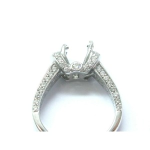 Vivanti 18Kt Diamond Semi Mount White Gold Engagement Ring .52Ct