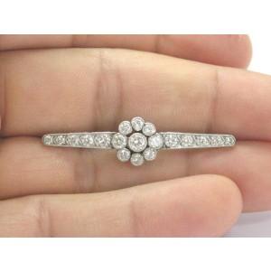 Platinum Vintage Old European Cut Diamonds Art Deco Circular Pin/Brooch 1.70Ct