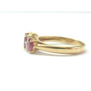 Ruby & Diamond Band 14Kt Yellow Gold 1.14Ct + .12Ct G-VS SIZEABLE
