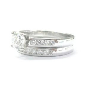 Fine Round Cut Diamond Engagement Wedding Set White Gold 1.20Ct