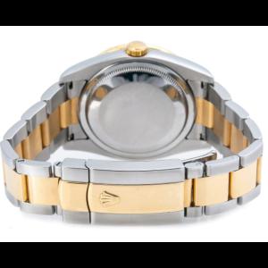 ROLEX DATEJUST WATCH 116201 36MM DIAMOND DIAL RAINBOW BEZEL TWO TONE OYSTER BAND