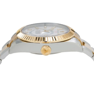 ROLEX SKY DWELLER WATCH 326933 STEEL AND YELLOW GOLD WHITE DIAL BOX AND CARD