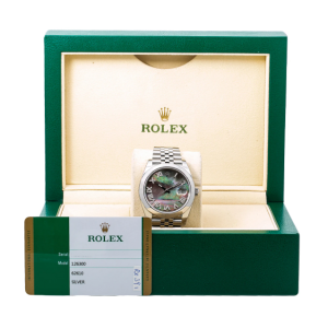 ROLEX DATEJUST 41 WATCH, 126300 41MM, MOP DIAMOND DIAL WITH STEEL JUBILEE BAND