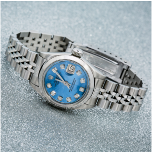 ROLEX DATEJUST 6916 26MM BLUE DIAMOND DIAL WITH STAINLESS STEEL BRACELET
