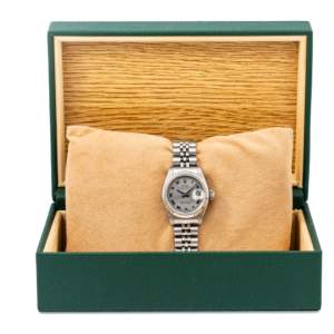 ROLEX LADY-DATEJUST WATCH 26MM  69174 SILVER DIAL WITH STAINLESS STEEL BRACELET