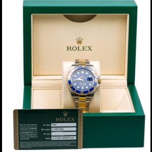 ROLEX SUBMARINER DATE 116613LB 40MM BLUE DIAL CERAMIC BEZEL TWO TONE BRACELET