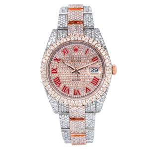 ROLEX DATEJUST II 126331 41MM WATCH STEEL AND ROSE GOLD CUSTOMIZED WITH DIAMONDS