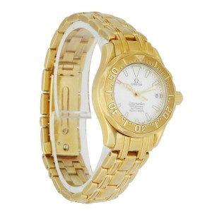 Omega Seamaster 18K yellow Gold Mother Of Pearl Dial Ladies Watch
