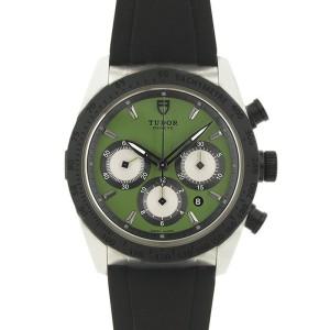 Tudor Fastrider Blackshield 42010N Stainless Steel 42mm Mens Watch
