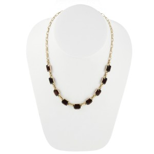 14K Yellow Gold with 31.0ct Garnet Necklace