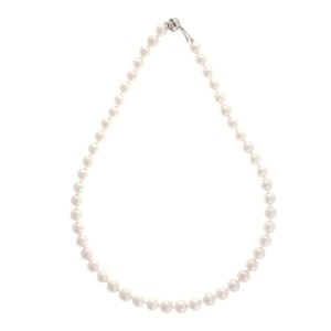 Peter Suchy 14K White Gold Akoya Pearl Necklace