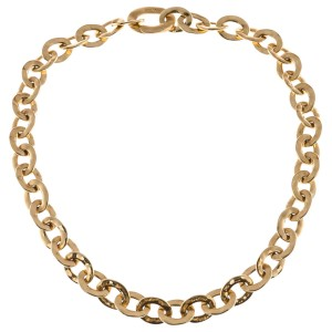 Pomellato 18K Yellow Gold Oval Link Necklace