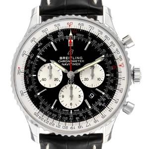 Breitling Navitimer 01 46mm Black Steel Dial Mens Watch AB0127 Unworn
