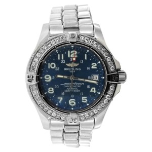 Breitling Superocean Stainless Steel and Diamond Watch