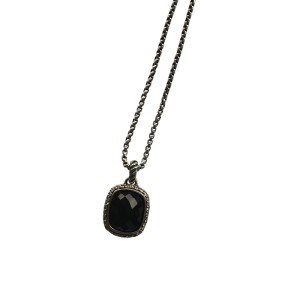 David Yurman Noblesse Black Onyx 0.25ctw Diamonds Necklace