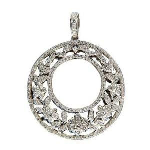 Charles Krypell 18K White Gold with 1.20ctw. Diamond Pendant
