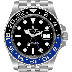 Rolex GMT Master II Black Blue Batman Jubilee Mens Watch 126710 Unworn