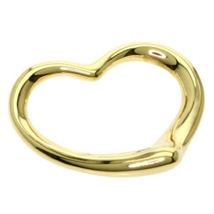 TIFFANY & Co. 18k Yellow Gold Open heart Pendant top
