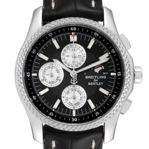 Breitling Bentley Mark VI Complications Steel Platinum Mens Watch P19362