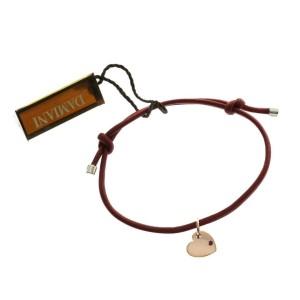 Damiani 9K Rose Gold Ruby Heart Silk Bracelet
