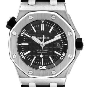 Audemars Piguet Royal Oak Offshore Black Dial Mens Watch 15703