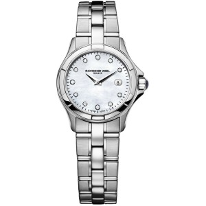 Raymond Weil Parsifal MOP Diamond Dial Stainless Steel Womens Watch