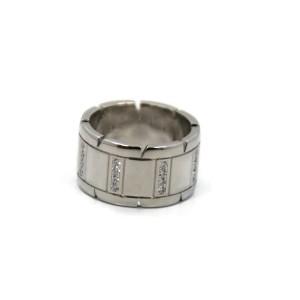 Cartier Tank Francaise 18K White Gold Diamond Ring Size 5.75