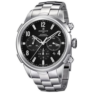 Perrelet Class-T A1069/B Stainless Steel Black Dial Automatic 44mm Mens Watch