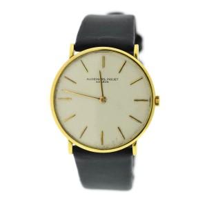 Audemars Piguet 18K Yellow Gold & Leather Manual Wind Vintage 31.5mm Mens Watch