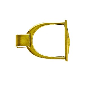 Vintage Horse Stirrup 14k Yellow Gold Money Clip 1940-1950