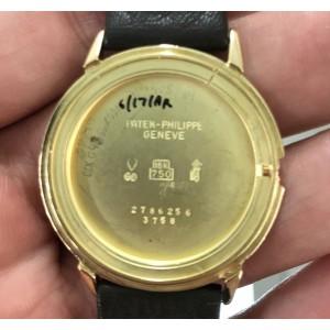 Patek Philippe Calatrava 3758J 18K Yellow Gold / Leather 36mm Mens Watch
