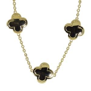 Van Cleef & Arpels 18K Yellow Gold Pure Alhambra 9 Motif Necklace