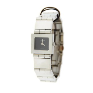 Gucci 600L Black Dial Stainless Steel Watch YA600501
