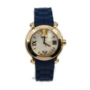 Chopard Happy Sport Diamond 18K Rose Gold Watch 277471