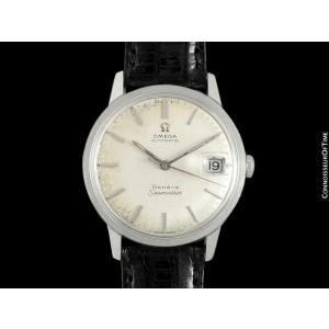 1968 OMEGA SEAMASTER GENEVE Mens Vintage 565 SS - Rare Double Signed Version