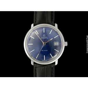 1972 OMEGA DE VILLE Vintage Mens Full Size Stainless Steel Watch, Mint, Warranty