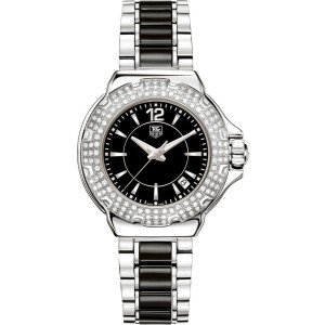 TAG HEUER  FORMULA 1 WAH1214.BA0859 DIAMOND CERAMIC LADIES LUXURY SWISS WATCH