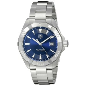 TAG HEUER WAY1112.BA0928 AQUARACER SWISS QUARTZ MENS BLUE LUXURY DATE WATCH