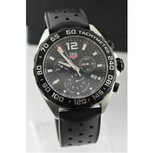 TAG HEUER FORMULA 1 CAZ1010.FT8024  QUARTZ CHRONOGRAPH RUBBER MENS SPORTS WATCH